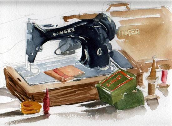a-singer-sewing-machine