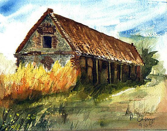 Derelict Barn Penny S Watercolours